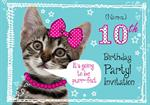 10th Birthday Party - Personalised Invites