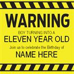 Warning - Personalised Invites