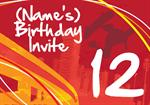 12th Birthday Party - Personalised Invites