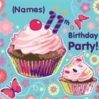11th Birthday Party - Personalised Invites