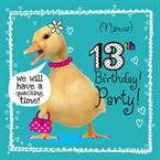 13th Birthday Party - Personalised Invites