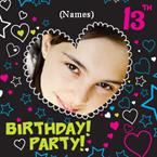 13th Birthday Party - Personalised Photo Invites
