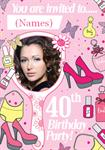 40th Birthday Party - Personalised Photo Invites