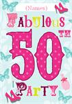 50th Birthday Party - Personalised Invites