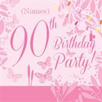 90th Birthday Party - Personalised Invites