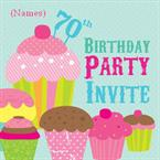 70th Birthday Party - Personalised Invites