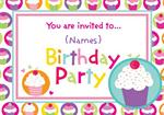 Cupcakes - Personalised Invites