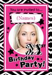 21st Birthday Party - Personalised Photo Invites