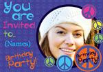 Peace & Groovy - Personalised Photo Invites