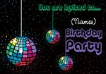 Disco Party - Personalised Invites