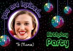 Disco Ball Birthday Party - Personalised Photo Invites