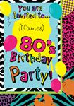 80's Birthday Party - Personalised Invites