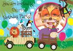 On Safari Birthday Party - Personalised Photo Invites