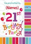 21st Birthday Party - Personalised Invites