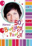 50th Birthday Party - Personalised Photo Invites