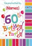60th Birthday Party - Personalised Invites