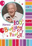 100th Birthday Party - Personalised Photo Invites