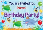 Under The Sea - Personalised Invites