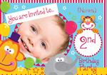 2nd Birthday Party Circus - Personalised Photo Invites