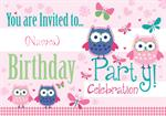 Owls - Personalised Invites