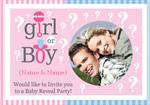 Gender Reveal - Personalised Photo Invites