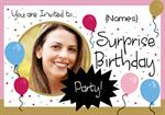 Surprise Birthday Party - Personalised Photo Invites