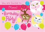 Cute Animals - Personalised Invites