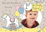 1st Birthday Party Rocking Horse - Personalised Photo Invites