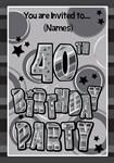40th Birthday Party - Personalised Invites