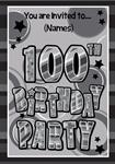 100th Birthday Party - Personalised Invites