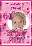 60th Birthday Party - Personalised Photo Invites