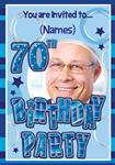 70th Birthday Party - Personalised Photo Invites