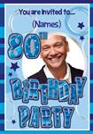 80th Birthday Party - Personalised Photo Invites