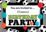 Football Birthday Party - Personalised Invites