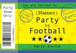Football Birthday Party- Personalised Invites