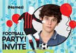 Football Birthday Party - Personalised Photo Invites