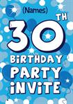 30th Birthday Party - Personalised Invites
