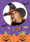 Trick or Treat Halloween - Personalised Photo Invites