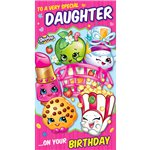 Shopkins Daughter Birthday Card