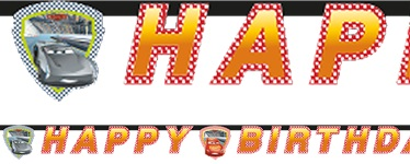 Disney Cars 3 - Happy Birthday Banner