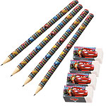 Disney Cars Neon Pencils & Erasers