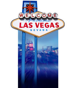 """Welcome to Vegas"" Cardboard Sign 191cm"
