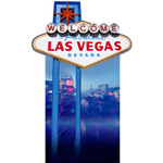 Welcome to Vegas Cardboard Sign 191cm