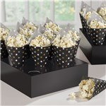Black Snack Cones with Tray