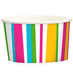 Summer Stripes Ice Cream Tubs - 250ml