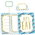 Blue Buffet Decoration Kit