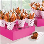 Pink Snack Cones with Trays