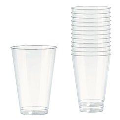 Clear Plastic Tumbler Glasses - 295ml