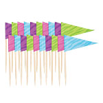 Pastel Flag Picks - 6.35cm