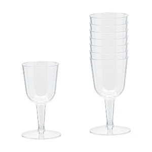 how to clean plastic wine glasses